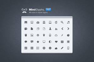 mimi glyphs free psd by LeMex