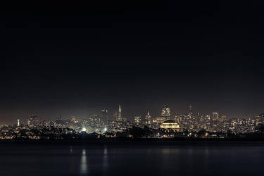 SF night skyline by LeMex