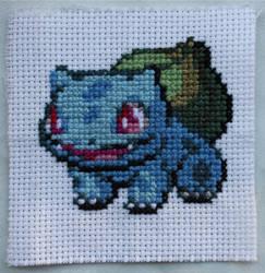 Bulbasaur Cross-stitch by Jess--EstrellaFugaz