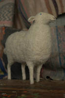 big needle felted sheep by vriad-lee