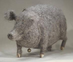 grey pig by vriad-lee