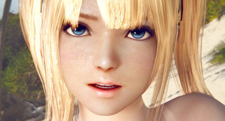 Marierose Suntanned face close-up view by xuniana
