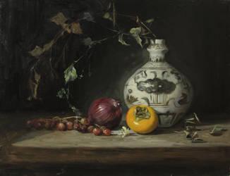 Still life: the old vase by Vanbay