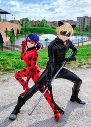 Ladybug and Chat Noir Cosplay by KICKAcosplay
