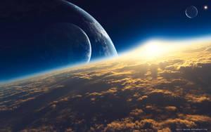 Sunrise In Space by DarinK