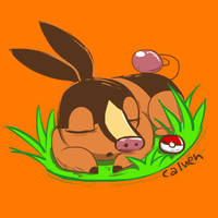 Pokedex Challenge: Fire Tepig by jakks004