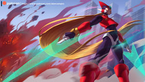 Zero - Megaman by playfurry