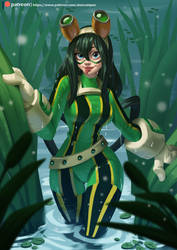 Tsuyu Asui by playfurry