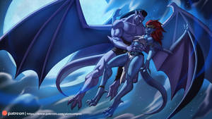 Goliath and Demona by playfurry