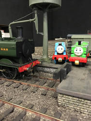 Thomas, Duck and the Pannier Tank at Howarth by Ryansmither1
