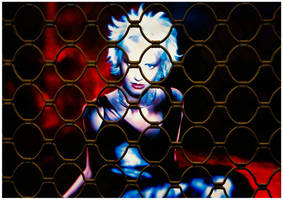 Woman in cage by MarcoFiorentini