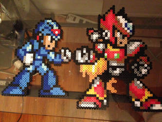 Megaman X and Zero by allenmac123
