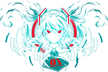 Vocaloid - Hatsune Miku vector trace by Carionto