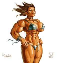 Painted Bikini Woman by Jebriodo