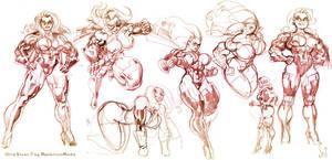 Ultra Vixen Sketchdump by Jebriodo
