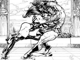 Commish:WonderwomanVsFortress by Jebriodo