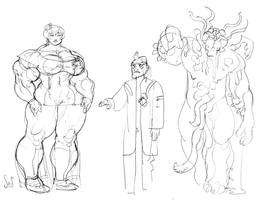 Genica Mad Scientist Monster by Jebriodo