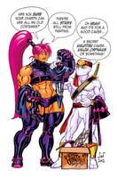 White Ninja Guy + Fisticuff by Jebriodo