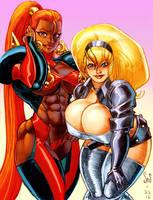 Seraphina and Alice color sketch by Jebriodo