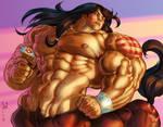 Thunderhoof torso color sketch by Jebriodo