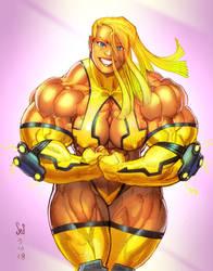 Bling! color torso sketch by Jebriodo