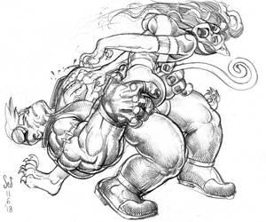 Victor vs? Felicia sketch by Jebriodo