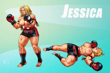 Boxing Girl Jessica color sketch by Jebriodo