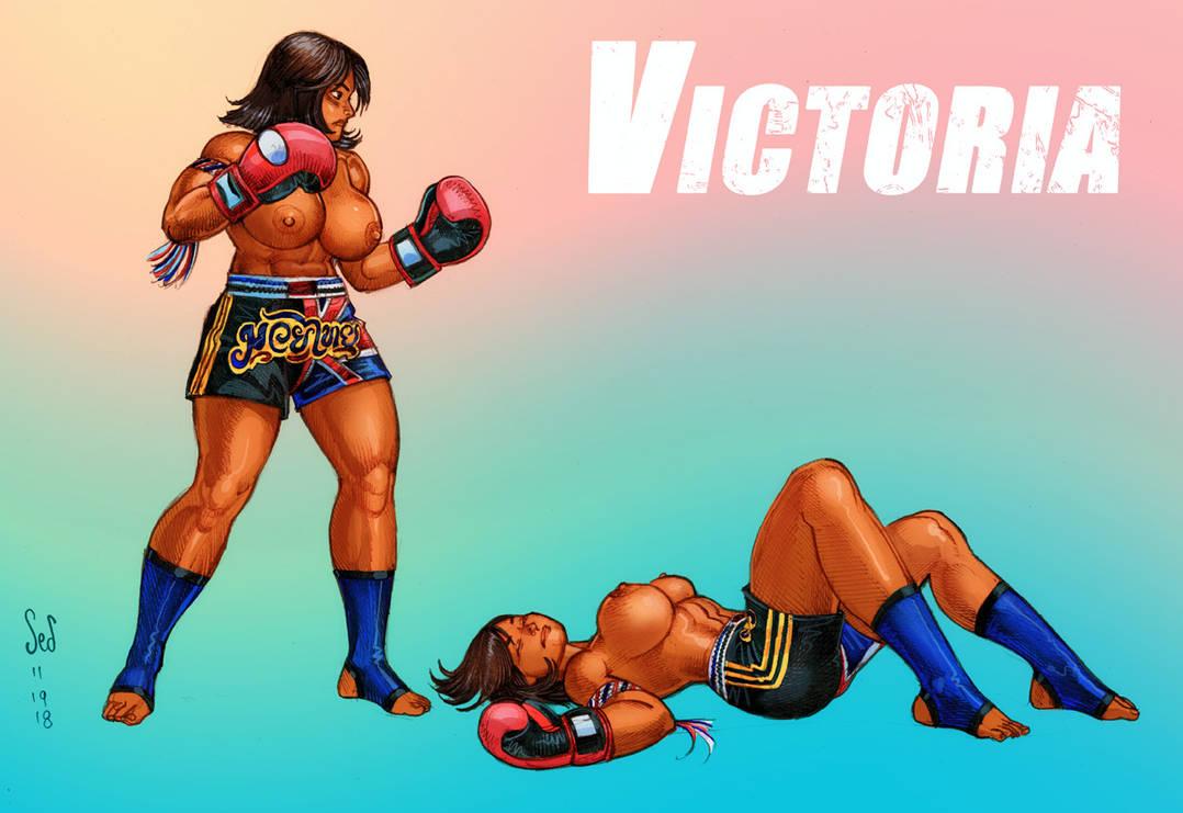 Boxing Girl Victoria color sketch by Jebriodo