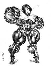 Aki sketch commission by Jebriodo