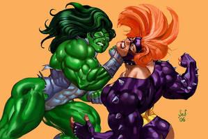 She Hulk vs Titania by Jebriodo