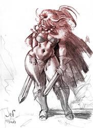 Red Sonja by Jebriodo