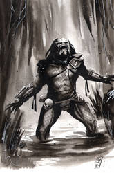 Predator inktober by SpaciousInterior