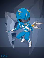 Blue Ranger Mighty Morphin by RafaelCavalcanti