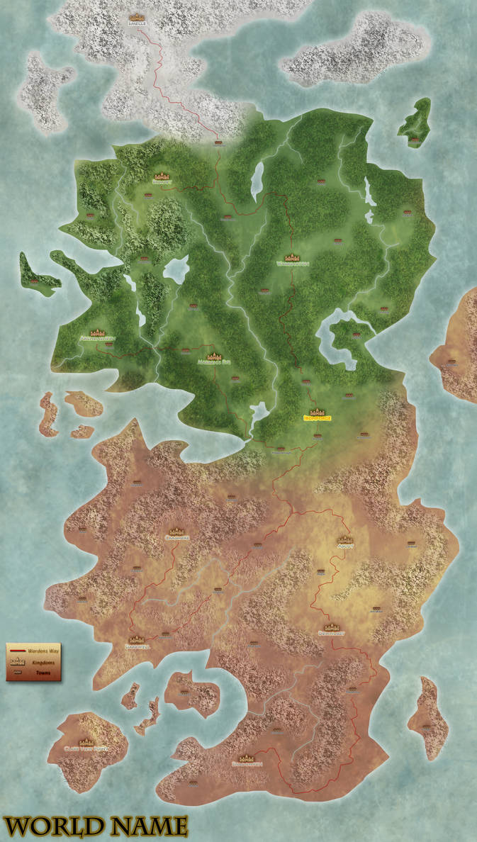 Dnd World Map By Sidthekid On Deviantart