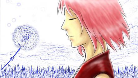 sakura - wind by eky09
