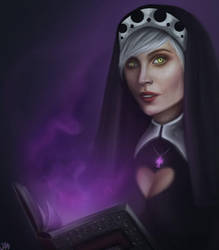 Dark nun by AnitaKast