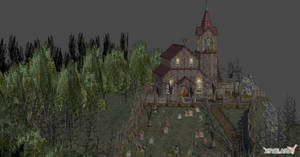 RE4 CHURCH AND CEMETERY by Oo-FiL-oO