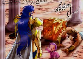 saga y aioria - Carlos Alam e Lui Rayson by LuiRaysonBrasil