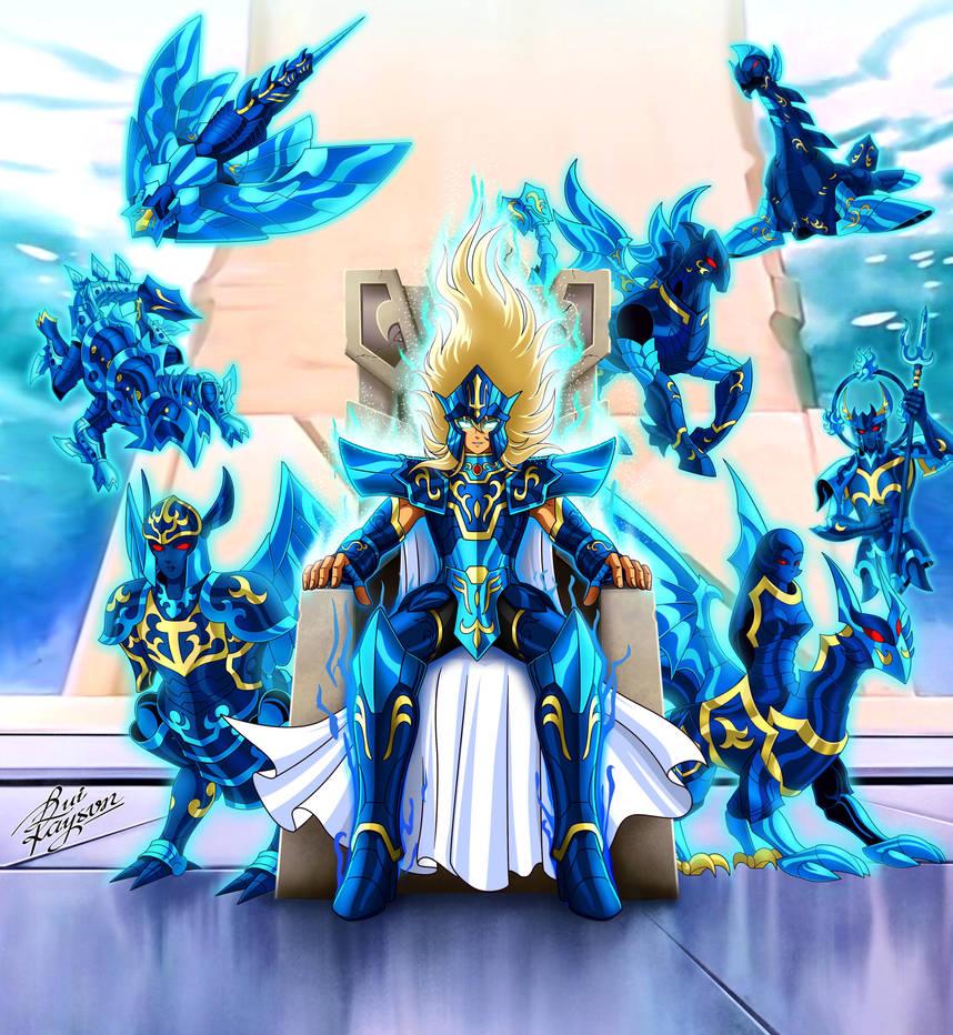 Poseidon Escamas Azuis by LuiRaysonBrasil