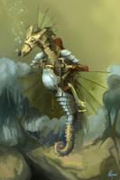Water Battel Horse by Cinnamon-Bluegard