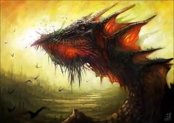 Typical dragon by linasidorova