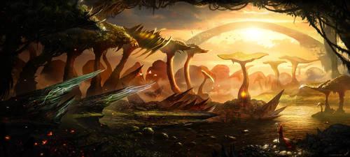 Mushroom swamp by linasidorova
