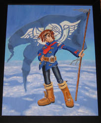 Vyse from Skies of Arcadia Oil Painting by Strikehawk