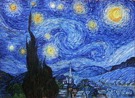 Starry Night (Van Gogh) by Truumania