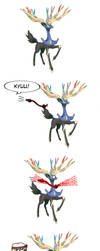 A random thing I noticed about Xerneas and Flandre by TeaandBGamer