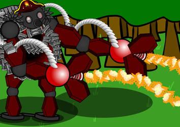 [Walfas] Mecha - The Fire-Fighter by TeaandBGamer