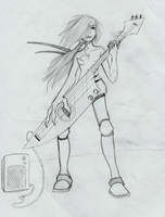 Lan and guitar by F4LL3N-0N3