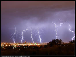 Lightnings in Albuquerque, NM by macrophotography