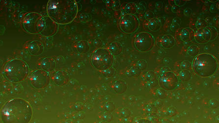 Bubbles by 3D-Stereoimage