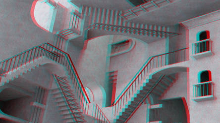 Impossible stairs by 3D-Stereoimage